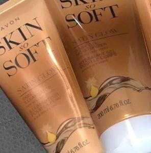 Avon skin so soft satin glow set of 2